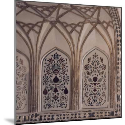 Decoration of Hall of Private Audience in Amer Fort in Jaipur, Rajasthan, India--Mounted Giclee Print