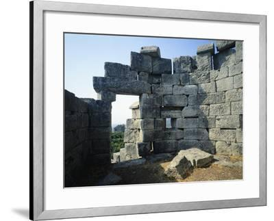 Fortifications in Messene, Greece. Greek Civilization BC--Framed Giclee Print