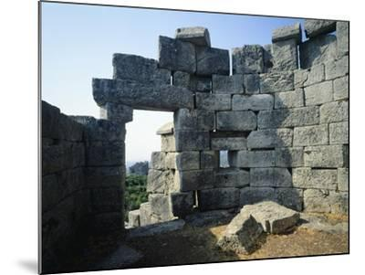 Fortifications in Messene, Greece. Greek Civilization BC--Mounted Giclee Print