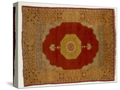 Rugs and Carpets: Turkey - Kula Medallion Carpet--Stretched Canvas Print