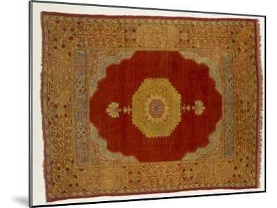 Rugs and Carpets: Turkey - Kula Medallion Carpet--Mounted Giclee Print