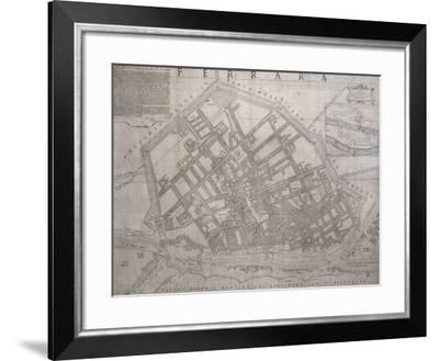 Map of Ferrara, Italy--Framed Giclee Print