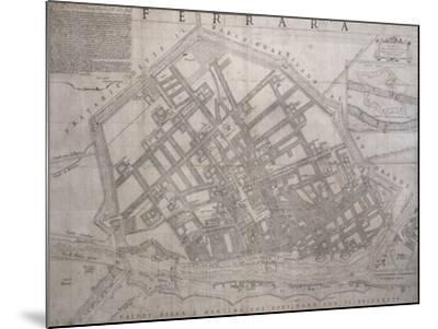 Map of Ferrara, Italy--Mounted Giclee Print