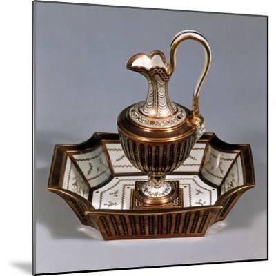 Ewer and Basin, Porcelain, Rue De Bondy Manufacture, Paris, France--Mounted Giclee Print