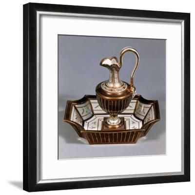 Ewer and Basin, Porcelain, Rue De Bondy Manufacture, Paris, France--Framed Giclee Print