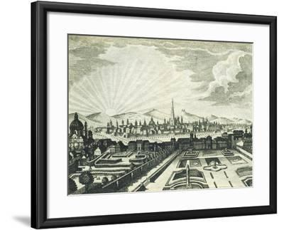 View of Vienna, Austria 18th Century Print--Framed Giclee Print