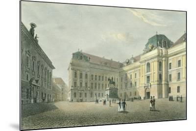 St Joseph Square in Vienna, Austria 18th Century Engraving--Mounted Giclee Print