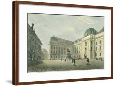 St Joseph Square in Vienna, Austria 18th Century Engraving--Framed Giclee Print