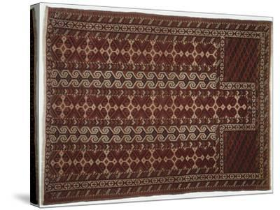 Rugs and Carpets: Russia, Turkestan, Prayer Carpet--Stretched Canvas Print