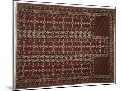 Rugs and Carpets: Russia, Turkestan, Prayer Carpet--Mounted Giclee Print