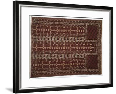 Rugs and Carpets: Russia, Turkestan, Prayer Carpet--Framed Giclee Print