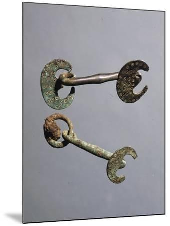 Decorated Bronze Horse Bits--Mounted Giclee Print
