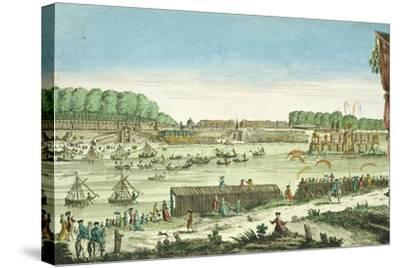 Celebrations on the Water to Mark the Beginning of Peace and the End of the Seven Year War, 1763--Stretched Canvas Print
