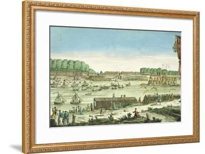Celebrations on the Water to Mark the Beginning of Peace and the End of the Seven Year War, 1763--Framed Giclee Print