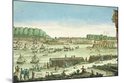 Celebrations on the Water to Mark the Beginning of Peace and the End of the Seven Year War, 1763--Mounted Giclee Print