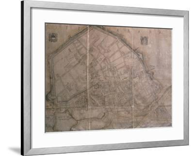 Map of Ferrara, Italy--Framed Giclee Print