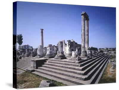Turkey, Didim, Temple of Apollo--Stretched Canvas Print