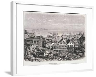 View of San Francisco Bay from Illustrazione Italiana Magazine, 10th August 1879--Framed Giclee Print