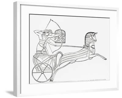 Egyptian War Chariot, from the Imperial Bible Dictionary, Published 1889--Framed Giclee Print