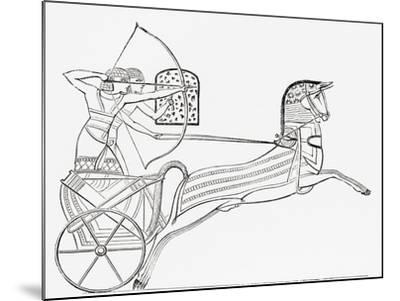 Egyptian War Chariot, from the Imperial Bible Dictionary, Published 1889--Mounted Giclee Print