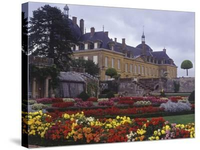 France, Bourgogne, Surroundings of Palinges, Castle of Digoine--Stretched Canvas Print