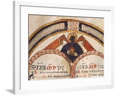 The Evangelist Matthew, Mozarabic Miniature from Liber Ordinum, 1052, Spain--Framed Giclee Print