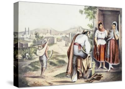 Mexico, Las Poblanas, People of Puebla, in Folk Costumes--Stretched Canvas Print