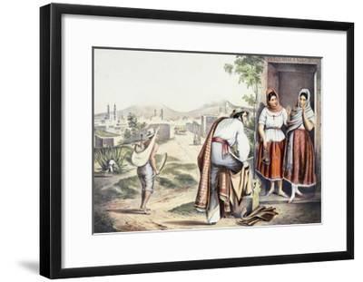 Mexico, Las Poblanas, People of Puebla, in Folk Costumes--Framed Giclee Print