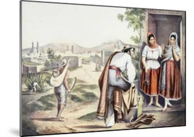 Mexico, Las Poblanas, People of Puebla, in Folk Costumes--Mounted Giclee Print