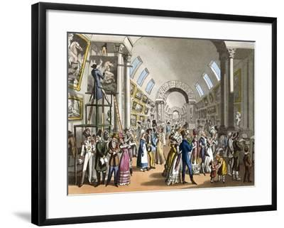 The Great Gallery of the Louvre in Paris, France 19th Century--Framed Giclee Print