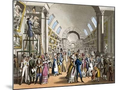 The Great Gallery of the Louvre in Paris, France 19th Century--Mounted Giclee Print