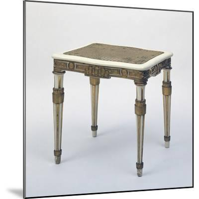 Carved and Gilded Stool, Wicker Seat, Austria--Mounted Giclee Print