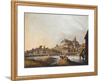 View of Bucarest Palace, 1810, Romania 19th Century Print--Framed Giclee Print