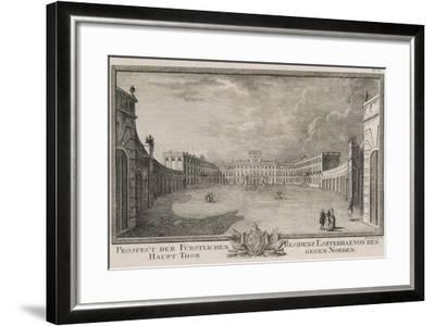 Esterhazy Palace in Vienna by F Landerer, 1784, Austria 18th Century Engraving--Framed Giclee Print