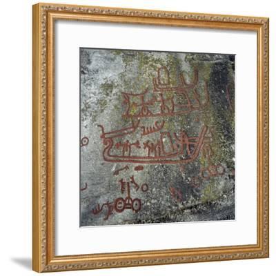 Rock Carvings, Begby, Norway, Bronze Age--Framed Giclee Print