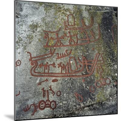Rock Carvings, Begby, Norway, Bronze Age--Mounted Giclee Print