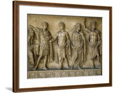 Apotheosis of Augustus, Fragment of Bas-Relief AD--Framed Giclee Print