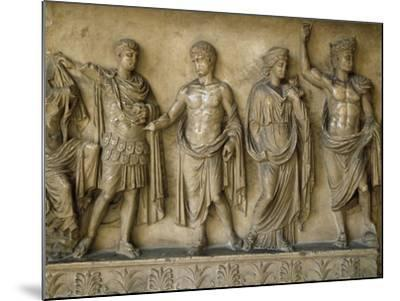 Apotheosis of Augustus, Fragment of Bas-Relief AD--Mounted Giclee Print