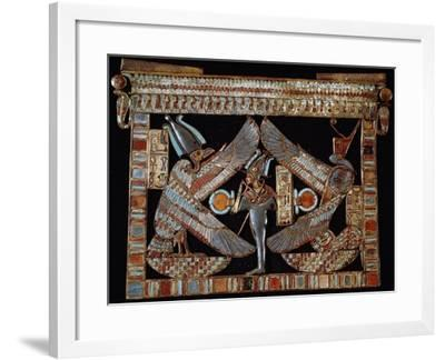 Breastplate with Isis, Osiris and Nephthys, Gold and Lapis Lazuli, from Tomb of Tutankhamun--Framed Giclee Print
