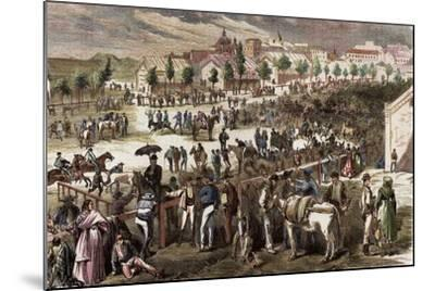 Spain, Madrid, 19th Century, Cattle Market on the Outskirts of the Toledo's Gate--Mounted Giclee Print
