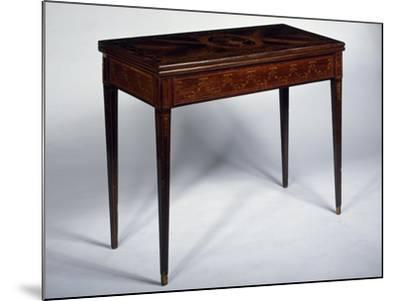 Rosewood Games Table with Inlays, Medallions and Garlands, Spain--Mounted Giclee Print