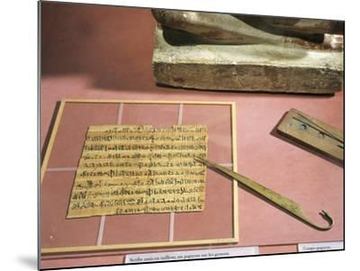 Letter Written on Papyrus and Copper Papyrus Knife--Mounted Giclee Print