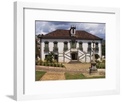 18th Century Facade with Double Staircase of Casa Da Camara and Barracks in Mariana--Framed Giclee Print
