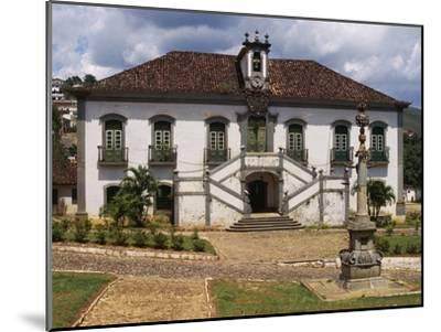 18th Century Facade with Double Staircase of Casa Da Camara and Barracks in Mariana--Mounted Giclee Print