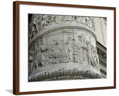 Right Column with Reliefs Depicting Scenes from the Life of Saint Charles Borromeo--Framed Giclee Print