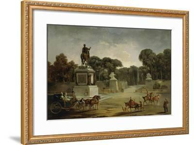 France, Entrance to Tuileries Palace in Paris in around 1775--Framed Giclee Print