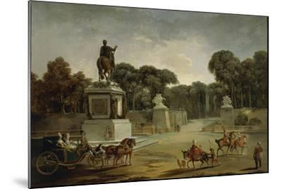 France, Entrance to Tuileries Palace in Paris in around 1775--Mounted Giclee Print