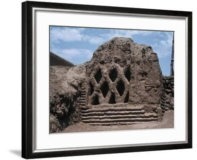 Peru, La Libertad, Wall Carvings at Chan Chan Archaeological Site--Framed Giclee Print