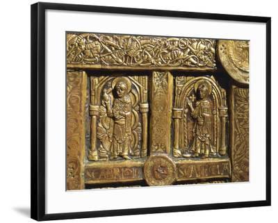 Altar Frontal Depicting Saint Brigid and Saint Thecla, from Lisbjerg Near Aarhus--Framed Giclee Print