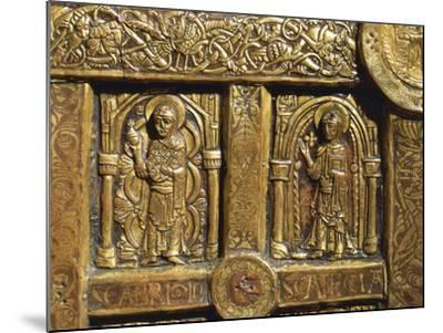 Altar Frontal Depicting Saint Brigid and Saint Thecla, from Lisbjerg Near Aarhus--Mounted Giclee Print
